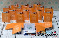 Tangerine Passport Wedding Invitations to Majestic Calonial, Punta Cana