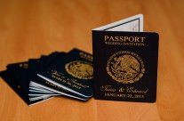 Passport Save The Date Cards to Moon Palace, Mexico