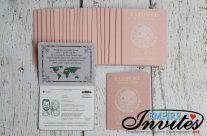 Peach Passport Wedding Invites to Grand Sunset Princess, in Mexico