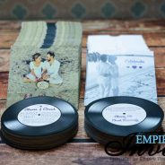 Vinyl Record Wedding Invitations to Punta Cana
