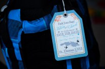 Luggage tag save the date cards to Sugar Bay Resort in St. Thomas