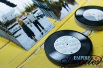 Vinyl Record Canadian Wedding Invitations